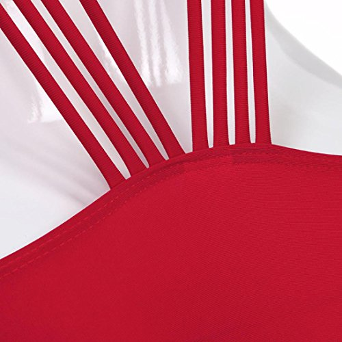 Costumi stampa bikini Monokini Rosso donna bagno da con Costume da bagno donne costume da up da intero Costume imbottito bagno delle gelatina sexy YanHoo push SavCqZwn