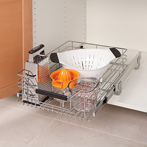 (SP Product Steel Shelf Pull Out Storage Drawer for Cabinet Organizer)