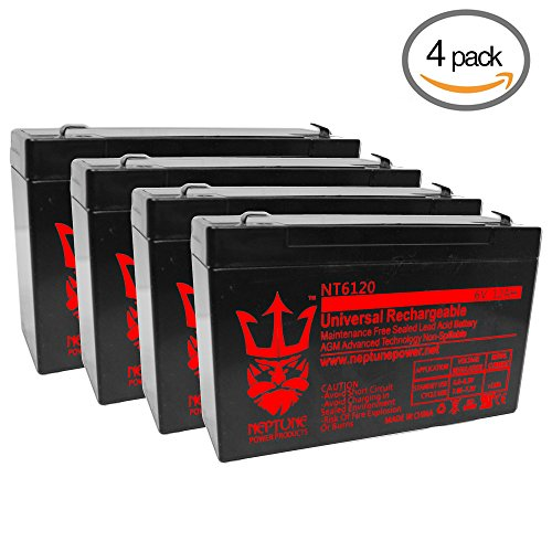 Alpha Technologies 2000 6V 12Ah SLA Replacement UPS Battery by Neptune - 4 Pack - Kid Alpha Check