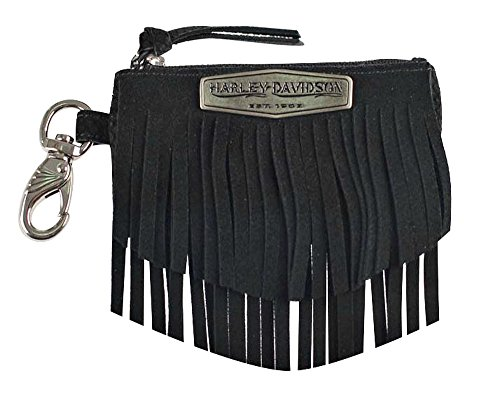 Harley-Davidson Women's Python Fringe Coin Pouch, Black Leather FS8549L-BLACK Tigers Leather Money Clip