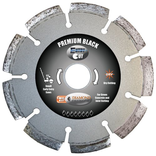 Diamond Products Core Cut Diamond Product 15747 Premium Black Entry Cut Early Entry Diamond Blade 6 x .100 x 1 (Early Entry Diamond Blade)