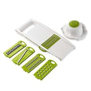 Easehold 5 in 1 Mandoline Slicers Set Vegetable Julienne with 5 Adjustable Thickness Cuts
