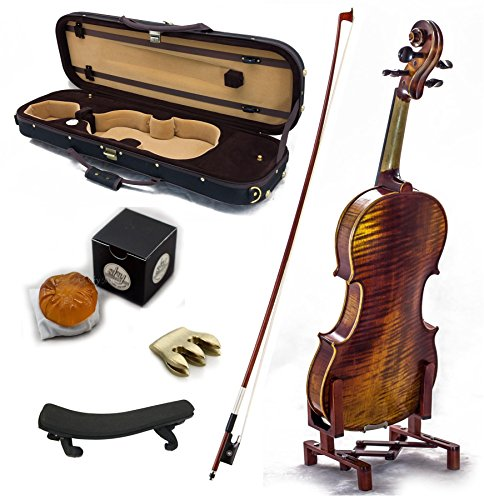 SKY 4/4 Full Size Antique Style Professional Handmade VN411 Violin Kit w Case Bow Rosin Mute