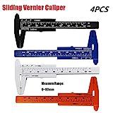 4pcs Vernier Caliper Ruler Plastic 80mm Ruler Ultra Precision Essential Tool for Jewelers