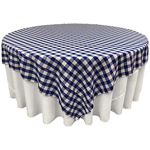 LA Linen Gingham Checkered Square Tablecloth 84
