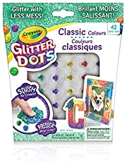 Crayola Glitter Dots Rainbow Dots for Kids, Holiday Toys, Less Mess Mosaic Kit, Arts and Crafts, Gift for Kids, 5, 6, 7, 8