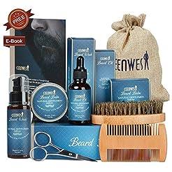 9 in 1 Beard Grooming Kit for Beard Care...