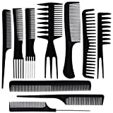 BSMALL-10PCS-Hair-Stylists-Professional-Styling-Comb-Set-Variety-Pack-Great-for-All-Hair-Types--Styles