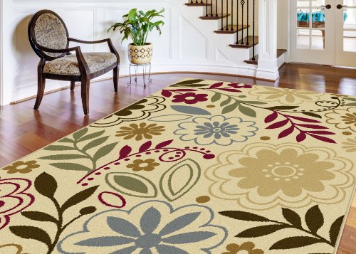Universal Rugs Contemporary Floral Beige product image