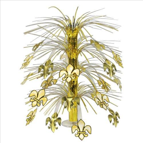 Beistle 57361 Fleur De Lis Cascade Centerpiece, 18-Inch
