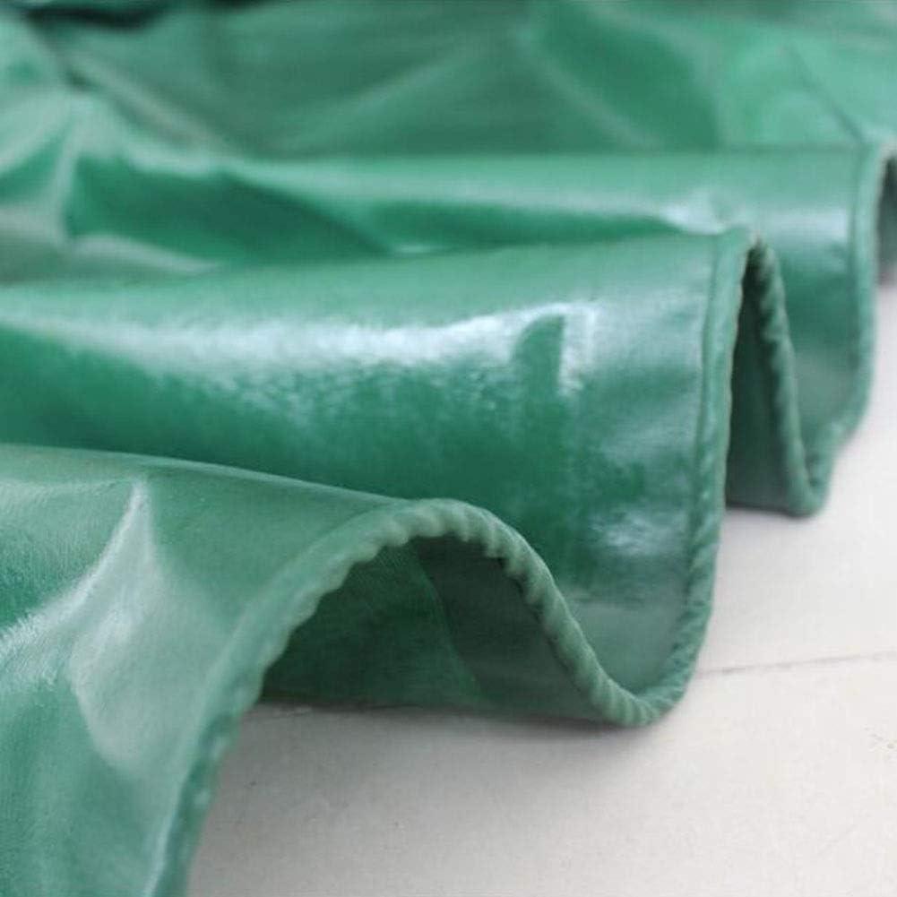 XUERUI シェルター ターポリン 防水 小屋の布 日焼け止め スリーアンチクロス PVC 防水シート オイルクロス にとって トラック ボート 桟橋 530g/㎡ スポーツ アウトドア (Color : 緑, Size : 5x6m) 緑 5x6m