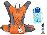 WACOOL Waterproof Hydration Bladder Pack, Cycling Backpack, Lightweight Daypack (Orange)