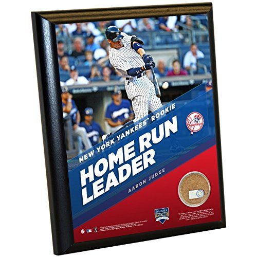 MLB New York Yankees Aaron Judge Record 30Th Rookie Hr 8 x 10 Plaque with Game Used Yankee Stadium Dirt