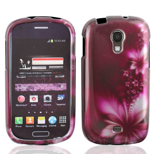 LF 3 in 1 Designer Hard Case Cover, Lf Stylus Pen and Wiper FOR T-Mobil Samsung Galaxy Light T399 (Purple Daisy) ()