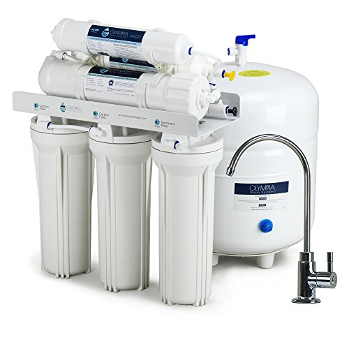 - Olympia Water Systems Alkaline Remineralization Reverse Osmosis Water Filtration System with 80GPD Membrane - Increases water pH
