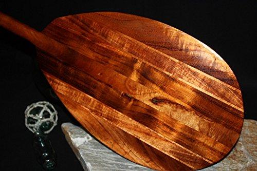 TikiMaster Premium Curly Outrigger Koa Paddle 60