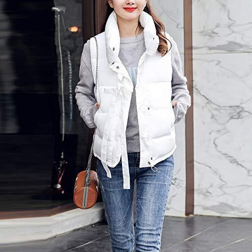 Cotton Padded Casual Women Jacket Jersh Slim White Coat Tunic Beautiful Outerwear Women Thick Outerwear Short Sleeveless Daily Winter X4vXwPq