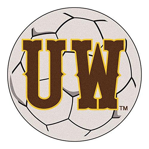 NCAA University of Wyoming Cowboys Soccer Ball Mat Round Area Rug