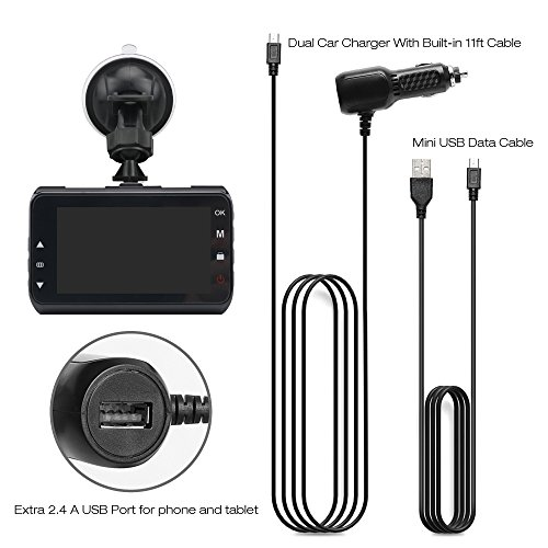 """Dash Cam, coolsun Dashboard Camera Recorder 3.0""""LCD FHD 1080P, Car Cam Vehicle DVR Built-in Night Vision, WDR, G-Sensor, Loop Recording. by coolsun (Image #6)"""
