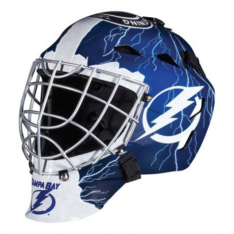 Tampa Bay Lightning NHL Full Size Youth Goalie Hockey Mask - New with Tags - Not for Competitive Play