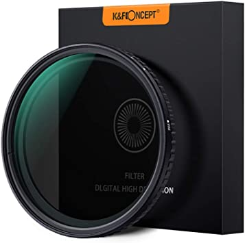 K/&F Concept 62mm Variable Fader ND2-ND32 ND Filter and CPL Circular Polarizing Filter 2 in 1 for Camera Lens No X Spot Weather Sealed