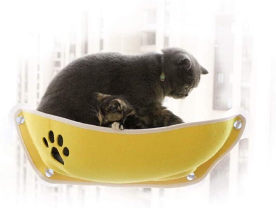 Decdeal Window Seat Cat Hammock with Bed Window Pole Cat Cat Bed