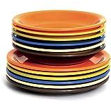 Color Life Excélsa 45338 - Juegos de vajilla, multicolor