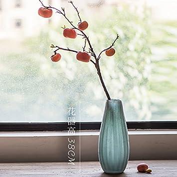 Zhudj Die Simbiodas Kaki Frucht Container Ruyi Kunstliche Blume Home