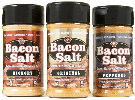 (J&D Foods Bacon Salt 3-Pack - Original, Hickory, Peppered)
