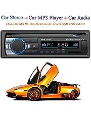 Honboom Autoradio Bluetooth Stereo Car Radio FM Ricevitore 60Wx4 Supporta Chiamata in vivavoce e Telecomando e Equalizzatore, Supporta la riproduzione di musica MP3 tramite BT/USB/SD/TF/AUX