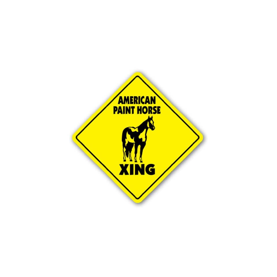AMERICAN PAINT HORSE CROSSING Sign novelty animal