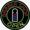 Barber Shop Open Animated Flashing LED Window Sign
