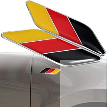 Audi Mercedes Porsche VW AMG Universal Germany Motor Sport Flag Car Badge