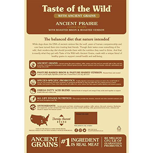 51olAe7sFtL. SS500  - Taste of the Wild Roasted Bison and Roasted Venison