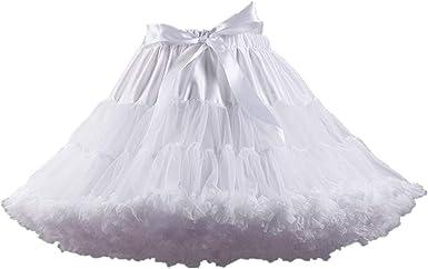 Amosfun Vestido de Falda de tutú en Capas de Tul Mujer para ...