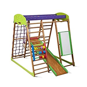 KindSport Centro di attività Karamelcek-plus, anelli, barre di scimmia, scivolo per bambini, al netto di arrampicata… 2 spesavip