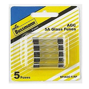 Bussmann AGC-5 Fuse 5A 250V Buss AGC5 (Pack of 5)
