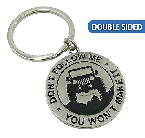 Boostnatics Dont Follow Me You Wont Make It Double Sided! Jeep Enthusiast Keychain Keyring Great Gift Idea for Any Jeep Owner!