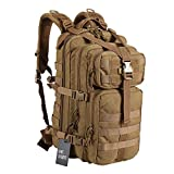OneTigris 25L Tactical Assault Military Backpack Molle Bag for Sport Outdoor Hiking Camping Compact Pack (Coyote Brown)