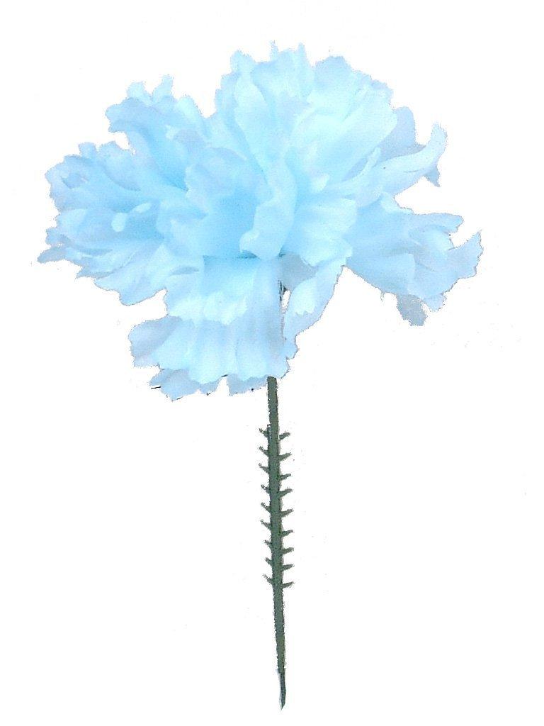 (フローラルサプライオンライン)Floral Supply Online シルク造花カーネーション 5インチ茎 ブルー ブルー ブルー B01725U0EQ