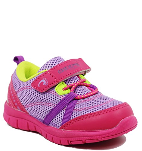 Walstar Girls Athletic Velcro Strap Light Weight Running Shoes (Toddler/little Kid/big Kid)