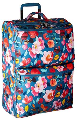Vera Bradley Rolling Luggage - Vera Bradley Lighten up Large Foldable Roller, Polyester, Scattered Superbloom, One Size