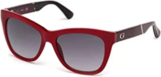 Guess Unisex Adults' GU7472 69B 56 Sunglasses, Red (Bordeaux Luc/Fumo Grad),