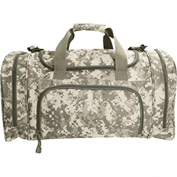 ACU Digital Camo Overnight Gym Duffel Bag With Shoe Wet Pocket Large