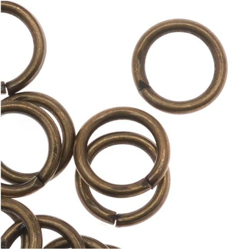 Beadaholique Antiqued Brass Open Jump Rings 19 Gauge 6mm (50)