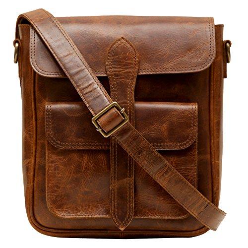 Enew Handmade Women Vintage Style Genuine Brown Leather Cross Body Shoulder Bag Handmade Purse - Purse Handmade Leather