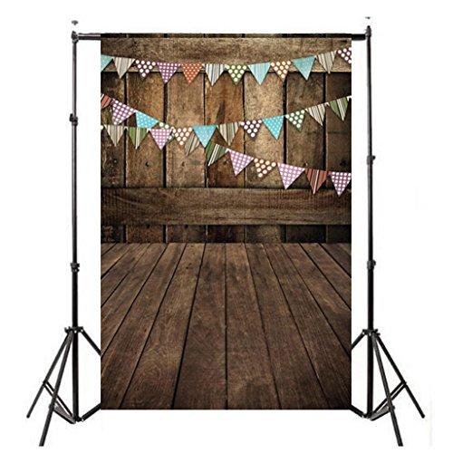 Wensltd Clearance! Vinyl Wood Wall Floor Photography Studio Prop Backdrop Background 3x5FT (C-1)