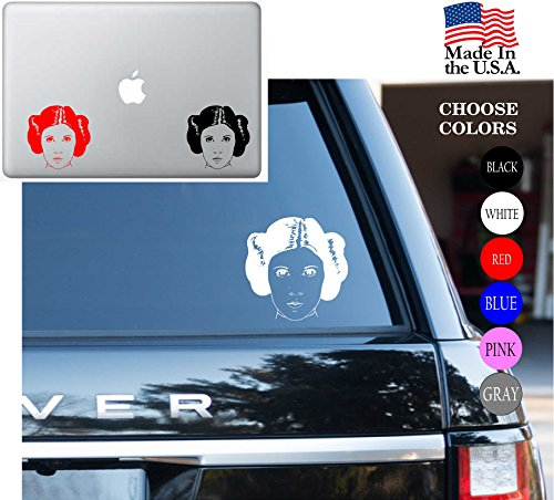 Star Wars Princess Leia Face Jedi Knight May The Force Be With You Vinyl Decal Sticker - Car Window, Laptop Skin, Wall, Mac (5.5