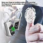 MYPIN-Lucchetto-Impronte-Digitali-Intelligente-IP66-Impermeabile-Per-Registrare-10-Set-Di-Impronte-Digitali-Adatto-Per-Porte-di-Casa-Valigie-Zaini-Palestra-Bici-Ufficio