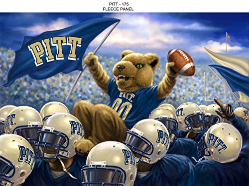 (UNIVERSITY OF PITTSBURGH FLEECE BLANKET PANEL-PITTSBURGH PANTHERS FLEECE FABRIC PANEL)